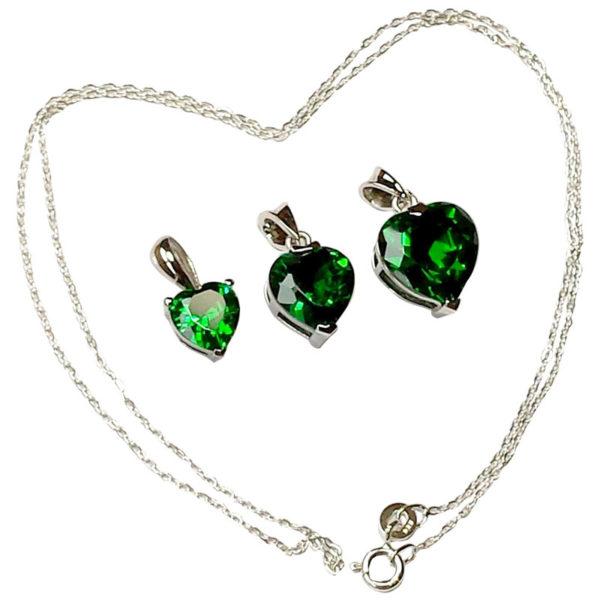Emerald Heart Pendants